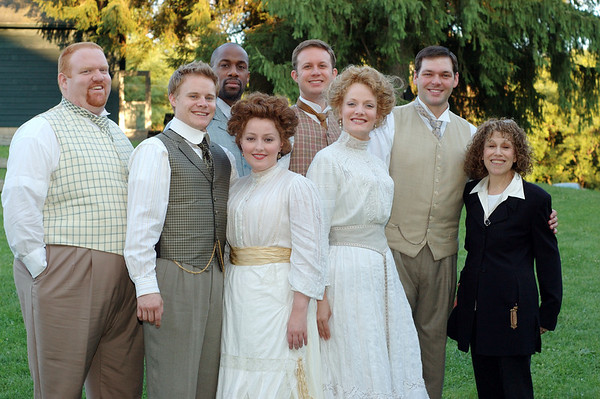 "Broadway costume designer Carrie Robbins, at right, with cast members of Benjamin Britten opera, ""Death in Venice,"" for which she did the costumes in a 2005 production at the Glimmerglass Opera in Cooperstown, NY."