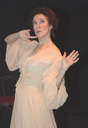"Singer Sally Sherwood as Anna Held, one of four turn-of-the-century vaudeville performers she recreates in her show, ""Good Bye, My Lady Love.""  It premiered in 1999 at the Shooting Star Theater in New York's South Street Seaport."