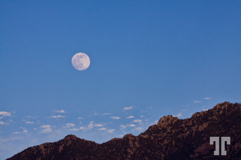 Full moon over the mountains