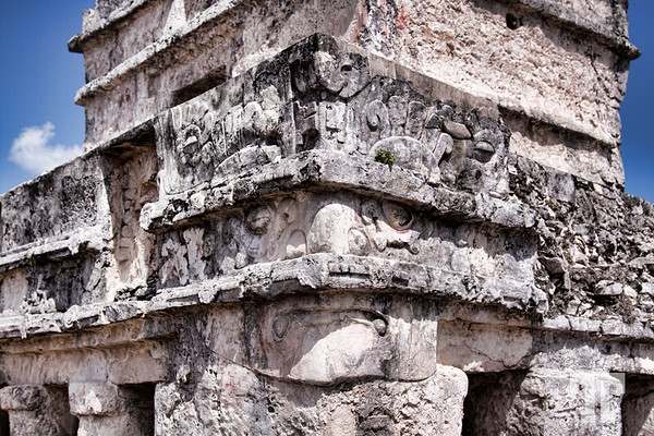 Tulum Mayan Ruins Mexico - Temple of the Frescoes