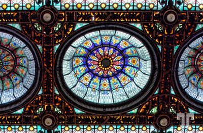 Mexico City Tiffany Stained Glass Ceiling