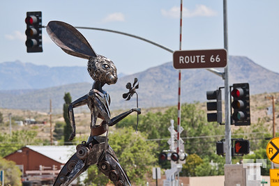 Jack rabbit art in Kingman Arizona, on Route 66
