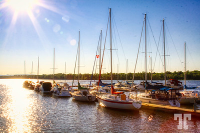 Marina on Ottawa river, Canada