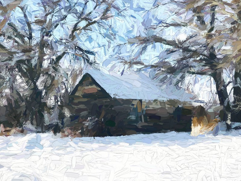 Old-barn-Shawmut-Montana-painting