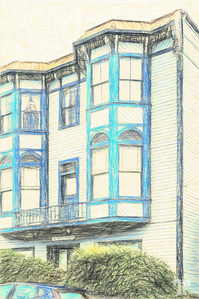 Coupeville-WA-Blue-Building-sketch