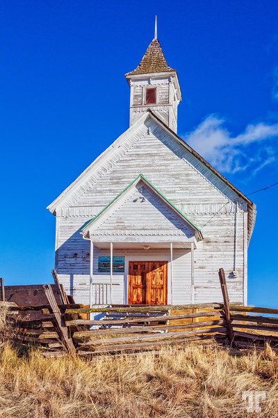 Old Church in John Day Oregon, Hwy 395
