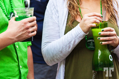 Green drinks on St.Patrick's Day in Las Vegas at Linq Promenade