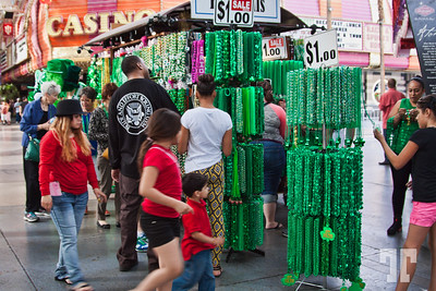 St Patricks Day on Fremont Street Experience, Las Vegas