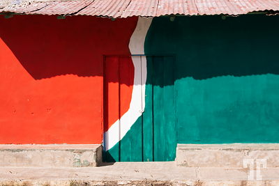 red-white-green-wall-mexico-rural