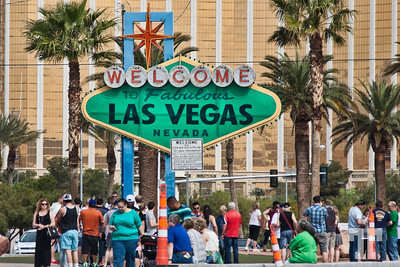 Green Las Vegas Welcome sign on St.Patrick's Day: http://vegasgreatattractions.com/st-patricks-day-2015-las-vegas/