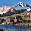 "Sept. 7, 2010<br /> <br /> Change Islands, Newfoundland hanging quilts<br /> <br /> I was looking for the opportunity of a shot like this for very long time.<br /> <br /> Finally I gave up with the idea, thinking that the ""classic"" images showing<br /> hanging quilts in NFL were staged, so I'll never be able to get one.<br /> <br /> - Yesterday, a miracle happened - a lady was just hanging these two out in the sun, and I was soooo ready for the shot :) Newfoundland, Canada, Atlantic Canada, maritimes"
