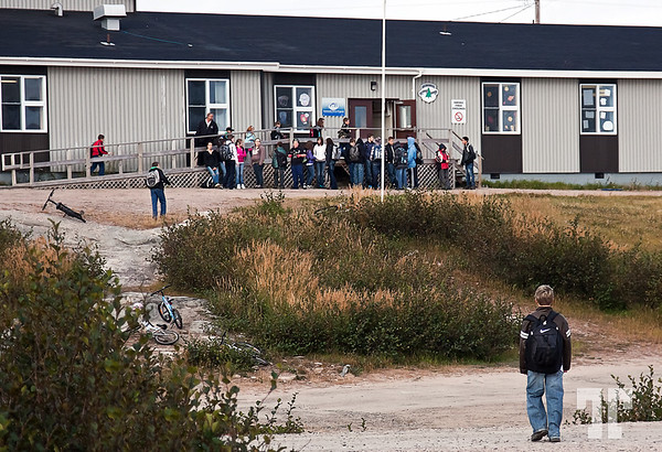 Sept. 15, 2010<br /> <br /> School in Mary's harbor, Labrador<br /> <br /> I'm late with my dailies, because I didn't have an Internet connection for the past 2 days.
