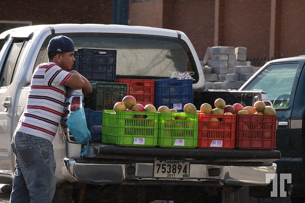 Fruit vendor at the market in Boquete, Panama
