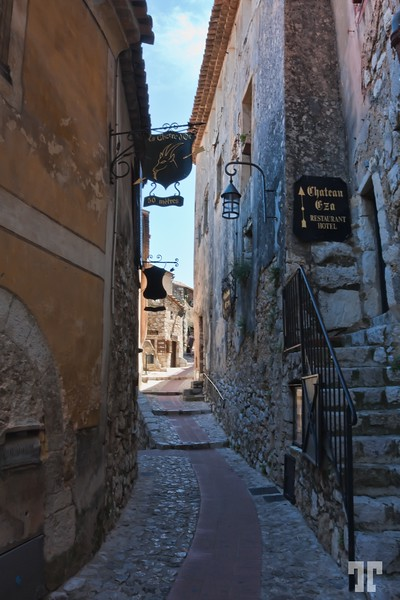 Medieval street in Eze, Côte d'Azur  (French Riviera)