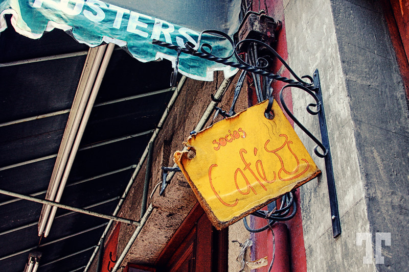 Cafe  sign in Mexico City (ss)