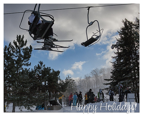 Happy Holidays, from Blue Mountain ski resort, Collingwood, Canada!