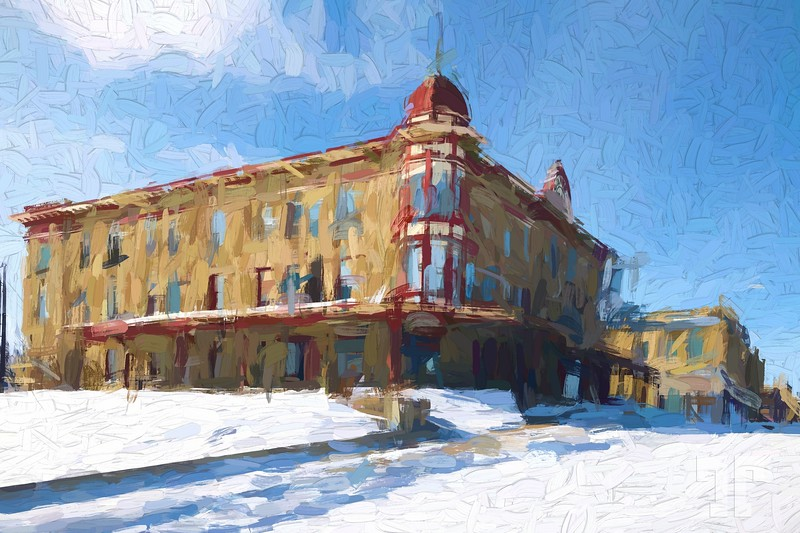 Harlowton-montana-historic-building-winter-paint