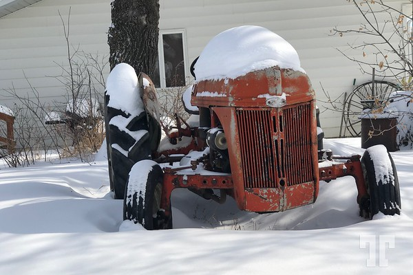 Old tractor - Shawmut, Montana, March