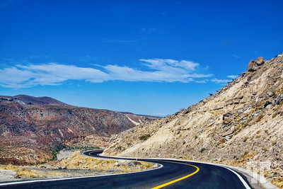 Crossing the mountains in Baja California, Mexico