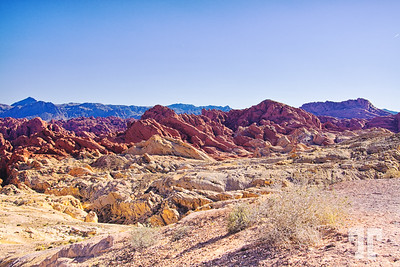 Bicolored rocks in the Valley of Fire State Park