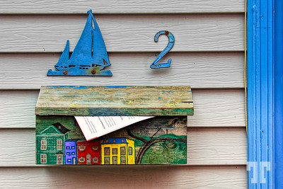 Hand painted mailbox - number 2