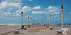 Progreso Merida beach on the Gulf of Mexico, situated in Yucatan, Mexico, pier,
