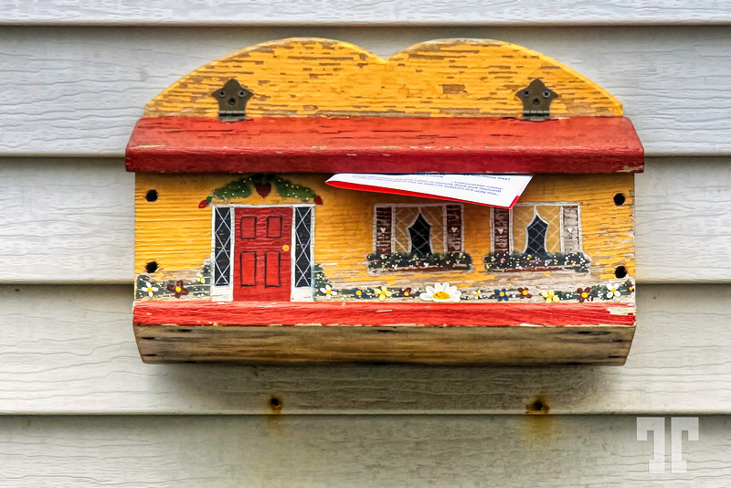 Hand painted maibox in St.Johns, Newfoundland (zz)