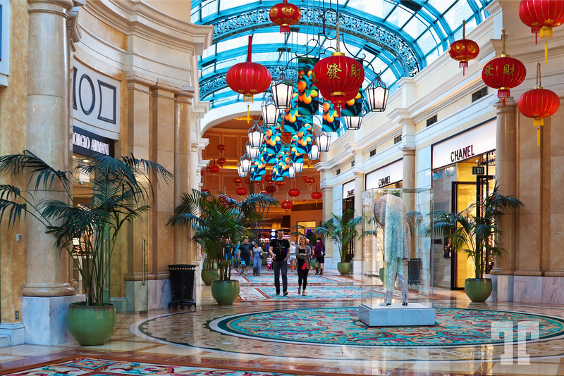 Bellagio hotel shopping mall  decorated for the Chinese New Year, Las Vegas