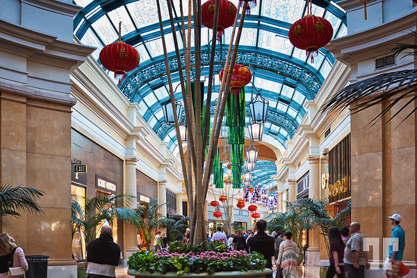 Via Bellagio decorated for the Chinese New Year, Las Vegas