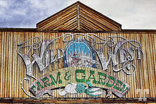 Wild West Farm and Garden store sign in Republic, Montana