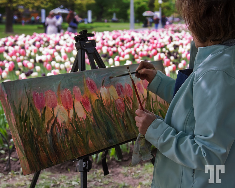 The painter at work