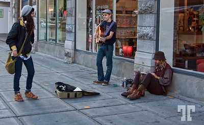 October 24, 09  Street musicians and their supporters :)  - ByWard Market area, Ottawa, Canada