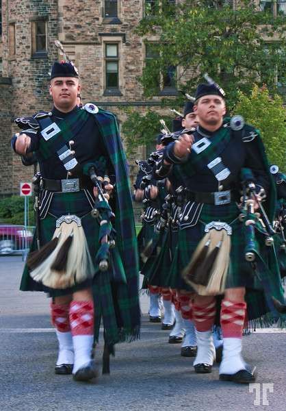 August 12, 09<br /> <br /> Scottish marching band Saturday evening in Ottawa.