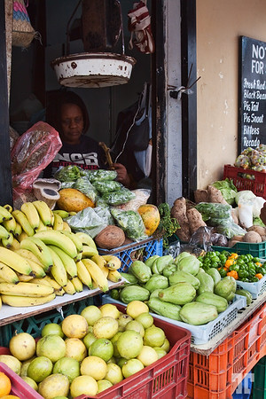 Belize City fruit stand