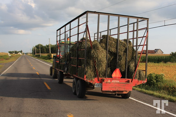 Transporting hay bales - - Ontario Pictures