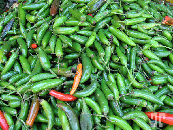 Chili peppers at the market in Mexico - I can smell them :)