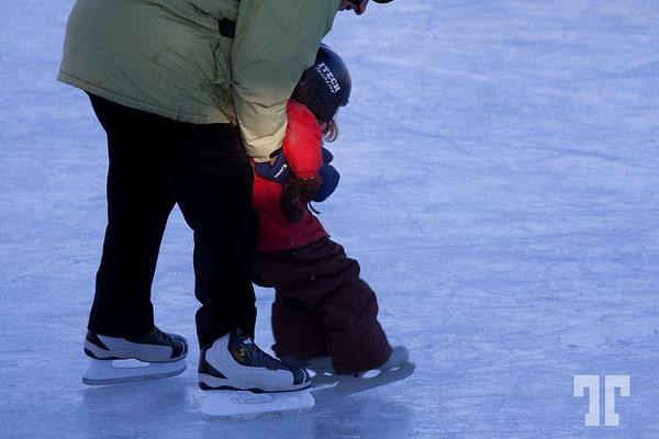 Rideau canal is open for skating Ottawa Canada  - January