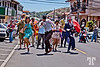 "March 3 2012<br /> <br /> Fun at the Jazz Festival in Boquete, Panama - Street Parade<br /> <br /> Thank you for all you comments yesterday, and sorry I couldn't comment early in the morning, but I'm way behind everything, including the editing of the photos and my neglected business....<br /> <br /> Yes, this is indeed a festival in the style of New Orleans music and dance (and fun) events.<br /> <br /> - The main band of musicians and dancers is from New Orleans including the 2 dancers in the foreground - which<br /> are absolutely stunning (I have many shots with them dancing) <br /> <br /> - The band is called "" Smoking Time Jazz Club"" and the super talented lady, Giselle Anguinzola is originally from Panama."