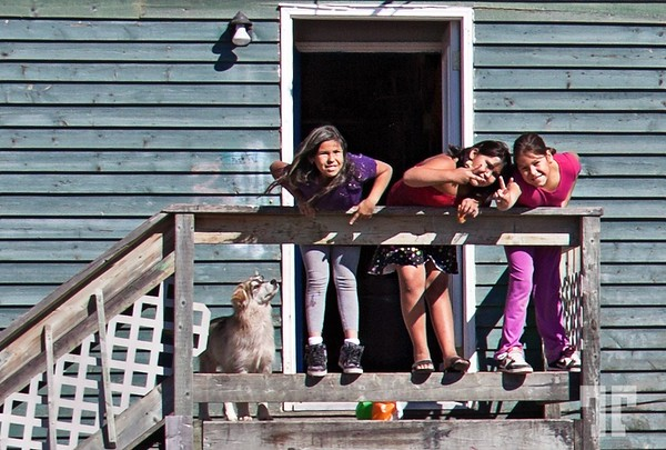 """Innuit kids in Sheshatshiu village, Goose Bay area<br /> <br /> <br /> I never new the difference between Innu and Innuit people. At the """"Interpretation centre"""" of the zone,<br /> a lady who said she was Inuit, explained to us that Innu are known as """"Eskimos"""" and<br /> Innuit are known as """"Indians"""". <br /> <br /> - There are actually 2 villages in the area (I forgot the name<br /> of the second one), and one is supposed to be of Innus while the other of Inuits.<br /> We visited both, and this is all I know about :)"""