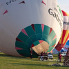 2009 Gatineau Hot Air Balloon Festival, in Quebec, Canada. Preparing the balloons to fly. Focus on Ville de Gatineau balloon, ready to fly. Photo taken on: September 04th, 2009 - Editorial Image