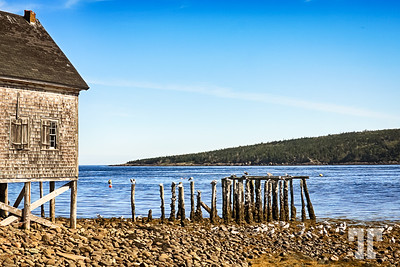 Briar Island old fishing shack and pier