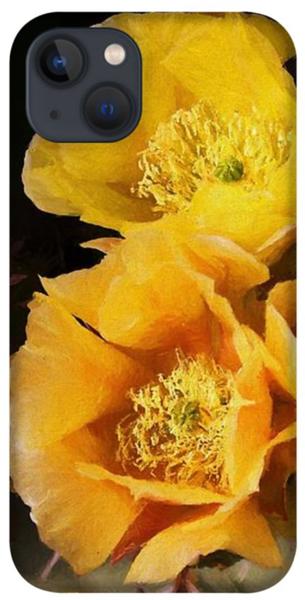 Yellow cactus flowers iPhone 13 Case