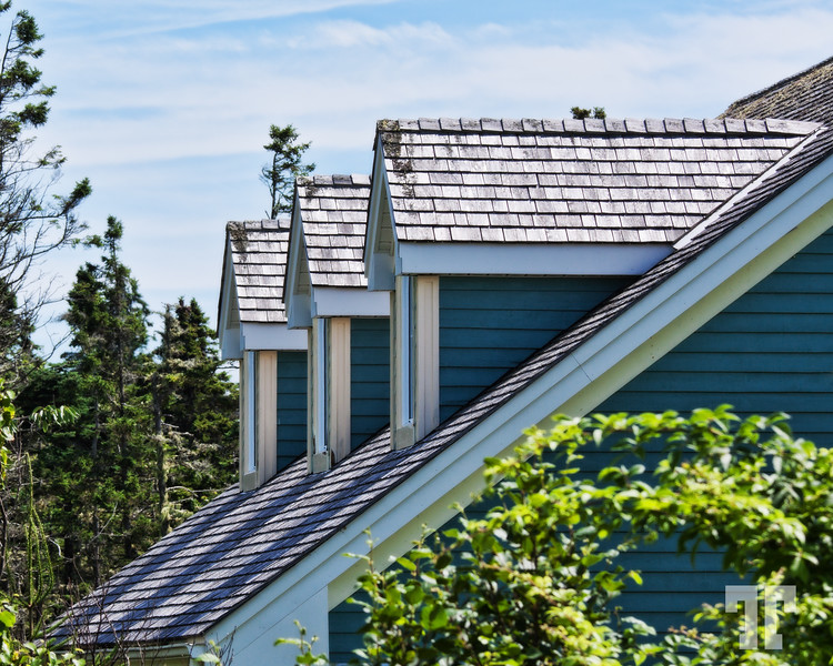 Roofs in a summer day in Nova Scotia
