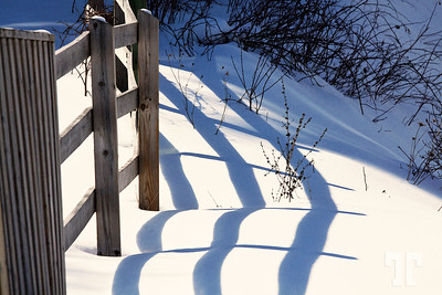March sun, snow and shaddows