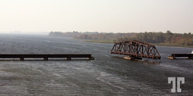 Swing bridge in Southern Quebec Quebec countryside