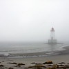 Lighthouse in the fog - Sandy Point, Shelburne, Nova Scotia, Canada<br /> <br /> 14 Sept 08  (ZZ)