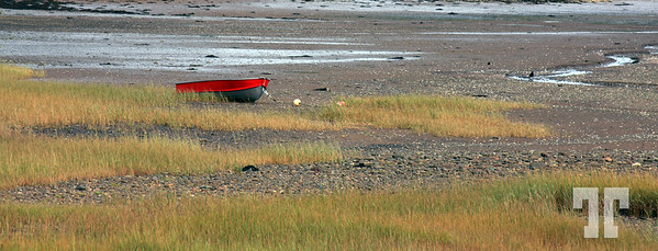 Low tide on the Bay of Fundy Nova Scotia