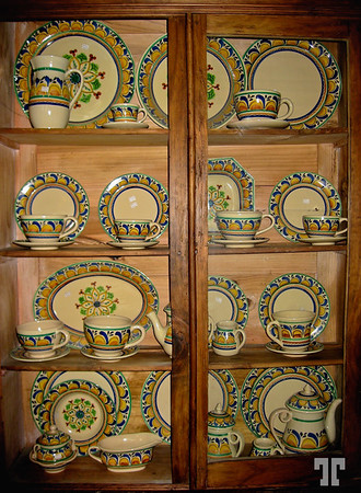 Displayed Mexican ceramic