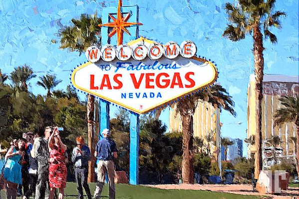 Las-Vegas-Welcome-sign-oil-painting