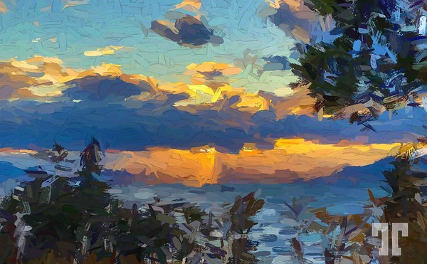flathead-lake-sunset-paint-abstract